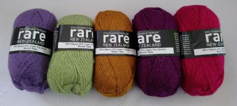 Rare Yarns Aran 5 ball set